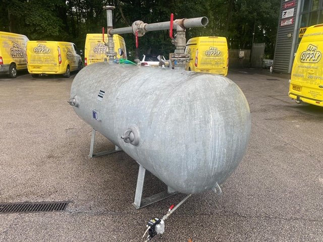 Air Receiver Galvanised 3000 litre horizontal