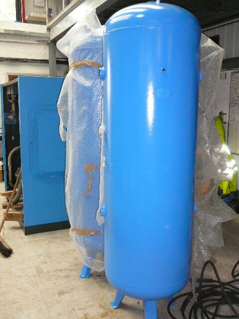 500 litre vertical painted air receivers EX stock NEW