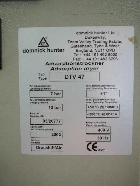 Domnick Hunter DTV47