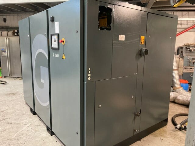 Atlas Copco G160 160kW Used Screw Compressor 2014
