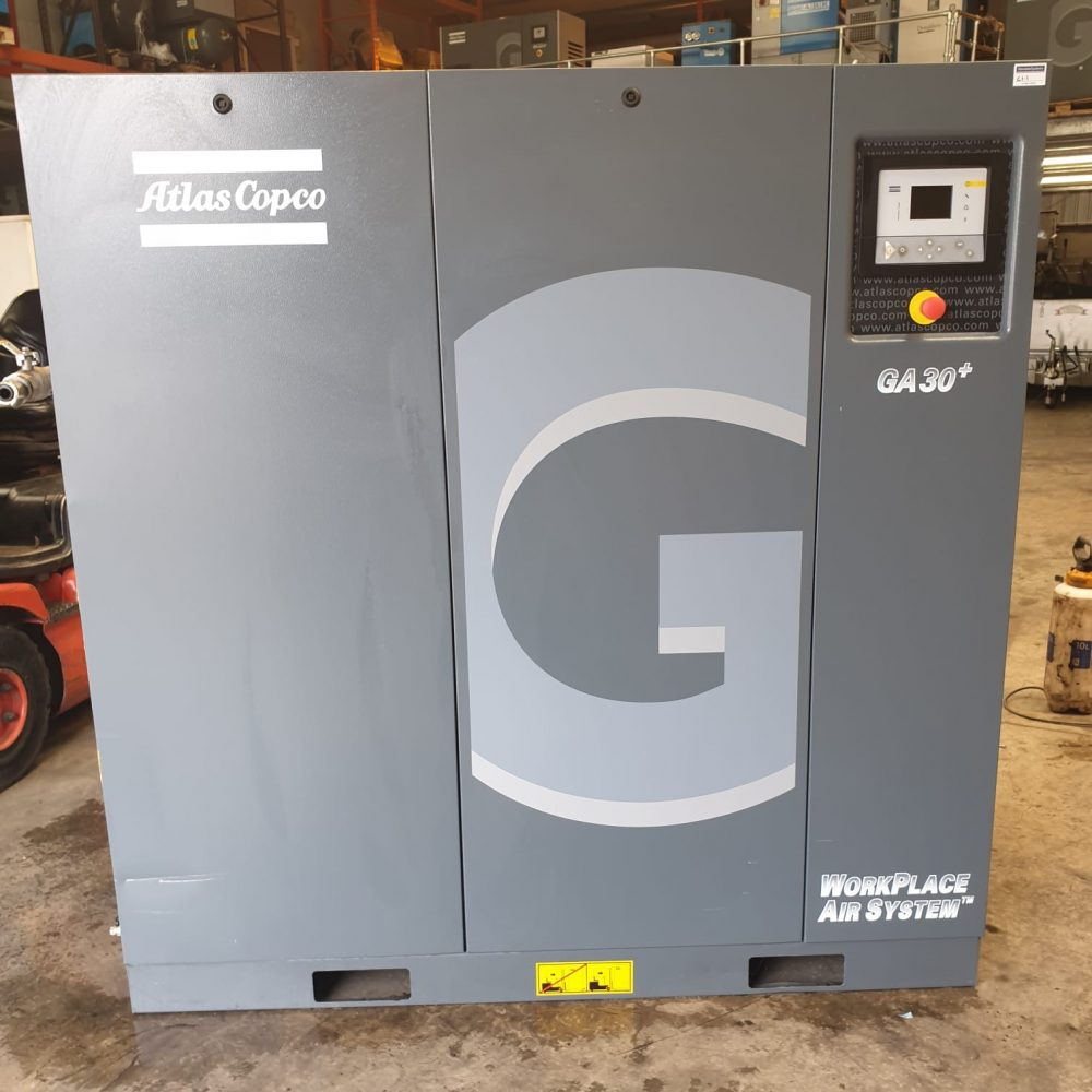 Atlas Copco GA30+ 2015 screw compressor low hours