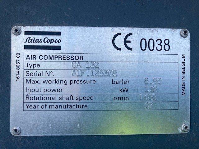 Atlas Copco GA132  8.5bar 132kW