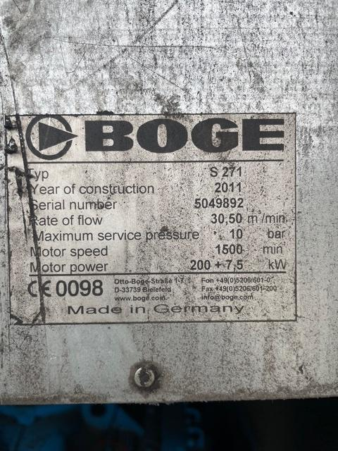 BOGE S271 200kW 10bar 1076cfm
