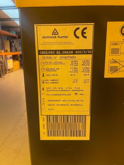 Domnick Hunter CRD1950 1148 CFM Air Dryer