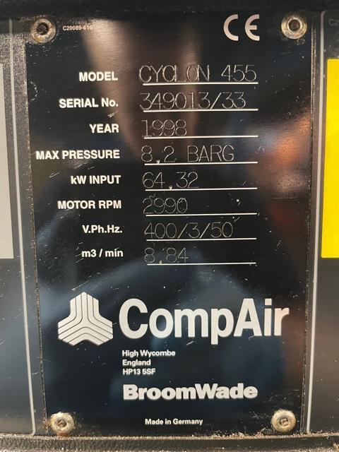 Compair 455 55kw 8.2 Bar 312 CFM
