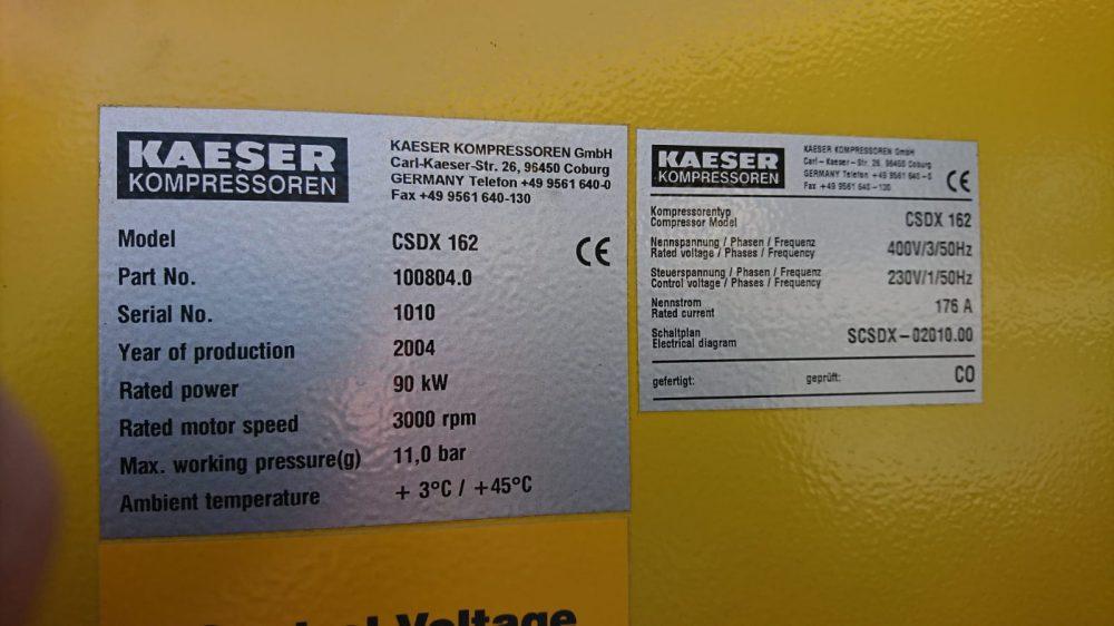 HPC CSDX 162 2004 10 Bar 476 CFM