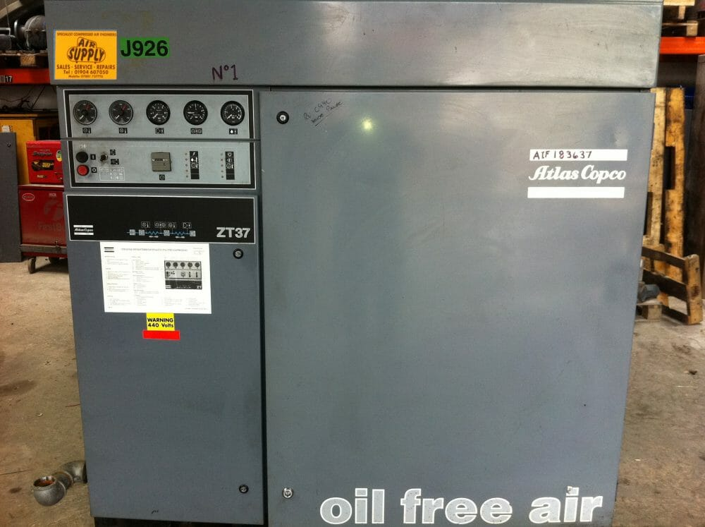 Atlas Copco ZT37 100% Oil Free