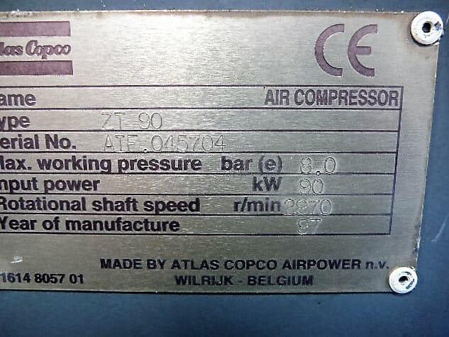 Atlas Copco ZT90 weatherproof
