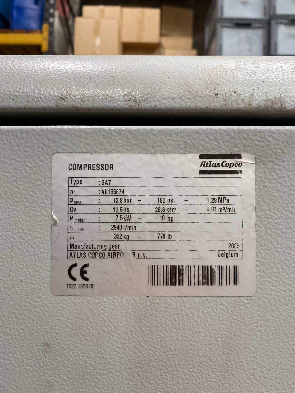 Atlas Copco GA7-FF RM 13bar