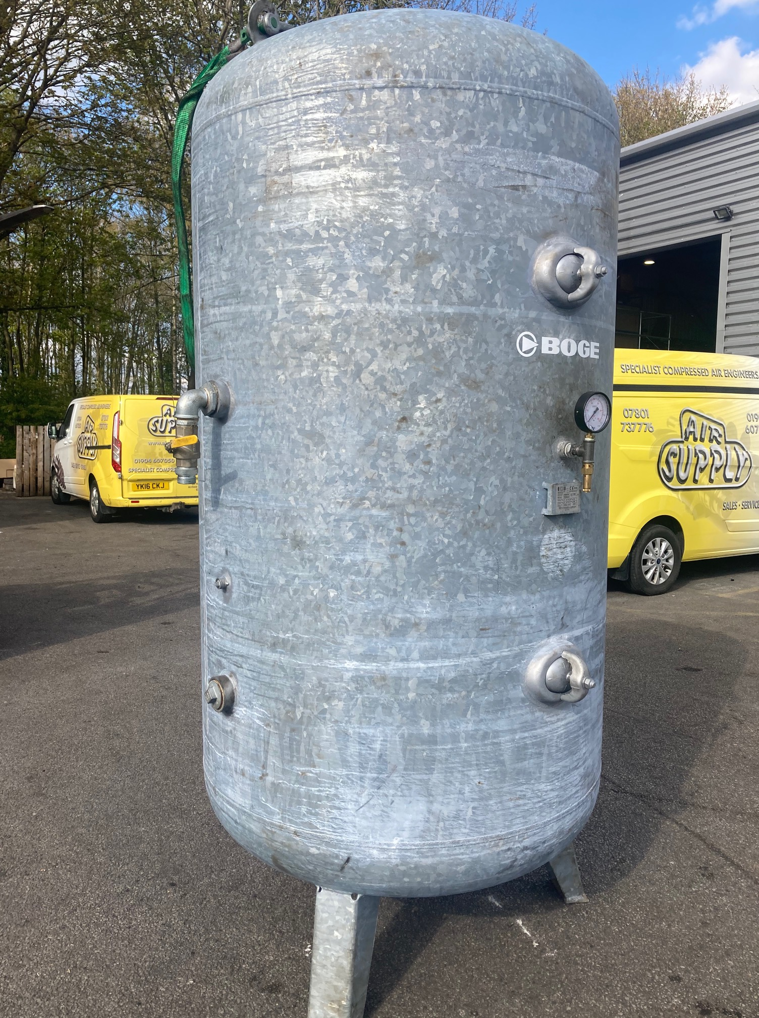 Vertical Air Receiver 3000 litre 11bar fully galvanized 2018