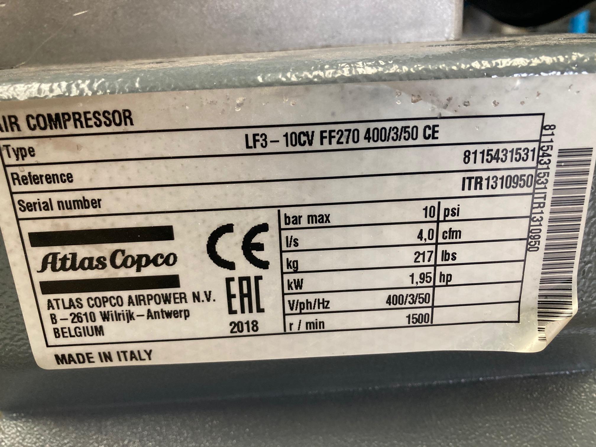 Atlas Copco LF3-10CV FF270