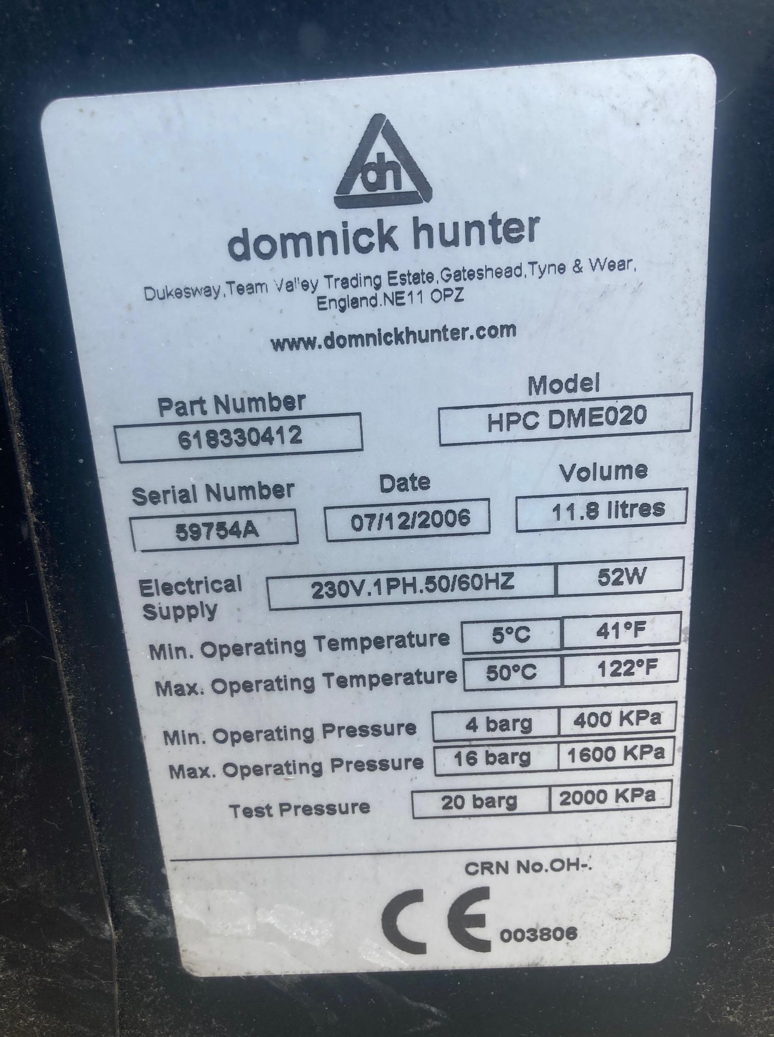 Domnick Hunter DME020 adsorption air dryer