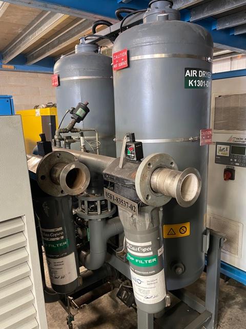 Atlas Copco BD390 827 CFM Heat Regen Desiccant Air Dryer