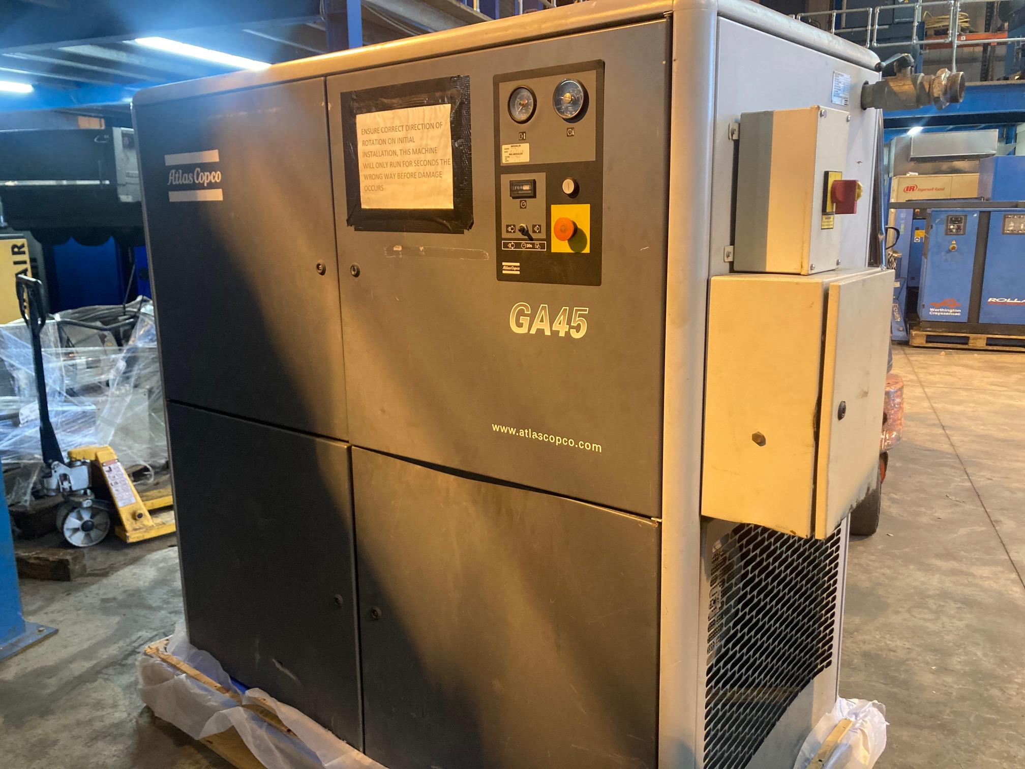 Atlas Copco GA45 306cfm 7.5bar hire compressor