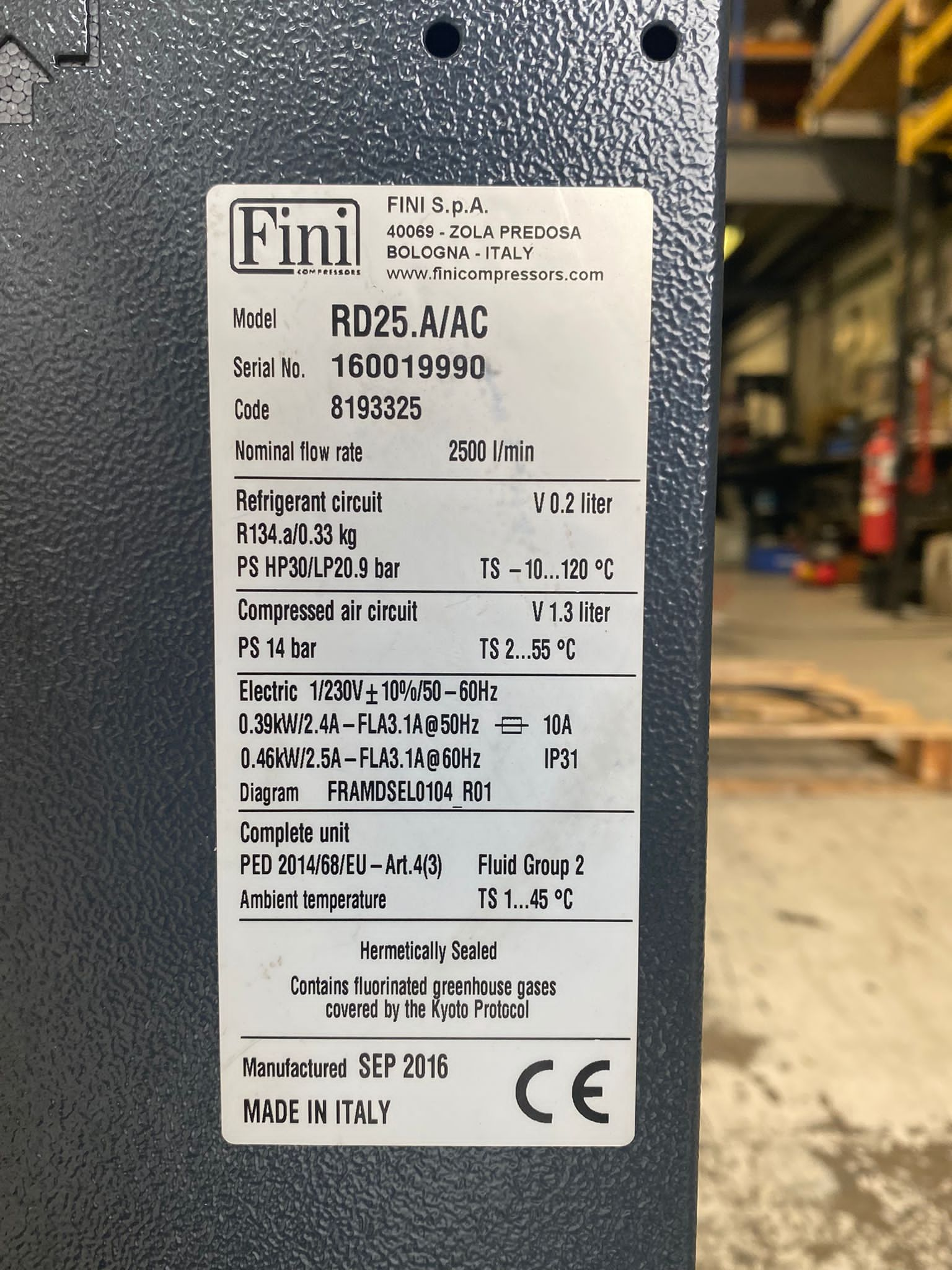 Used Compressed Air Dryer Compressed air dryer 84cfm