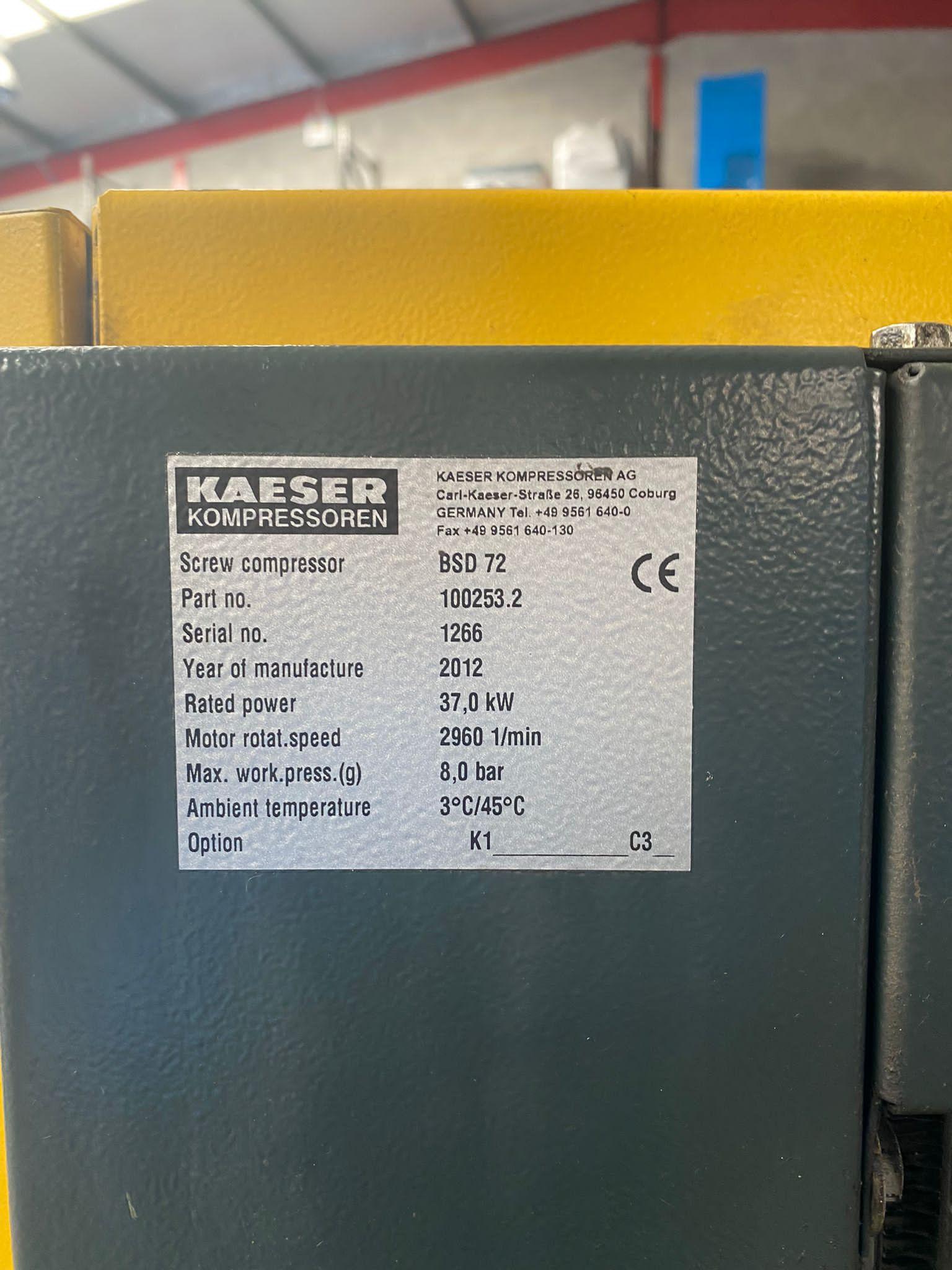 HPC BSD72 37kW 8bar direct drive screw compressor