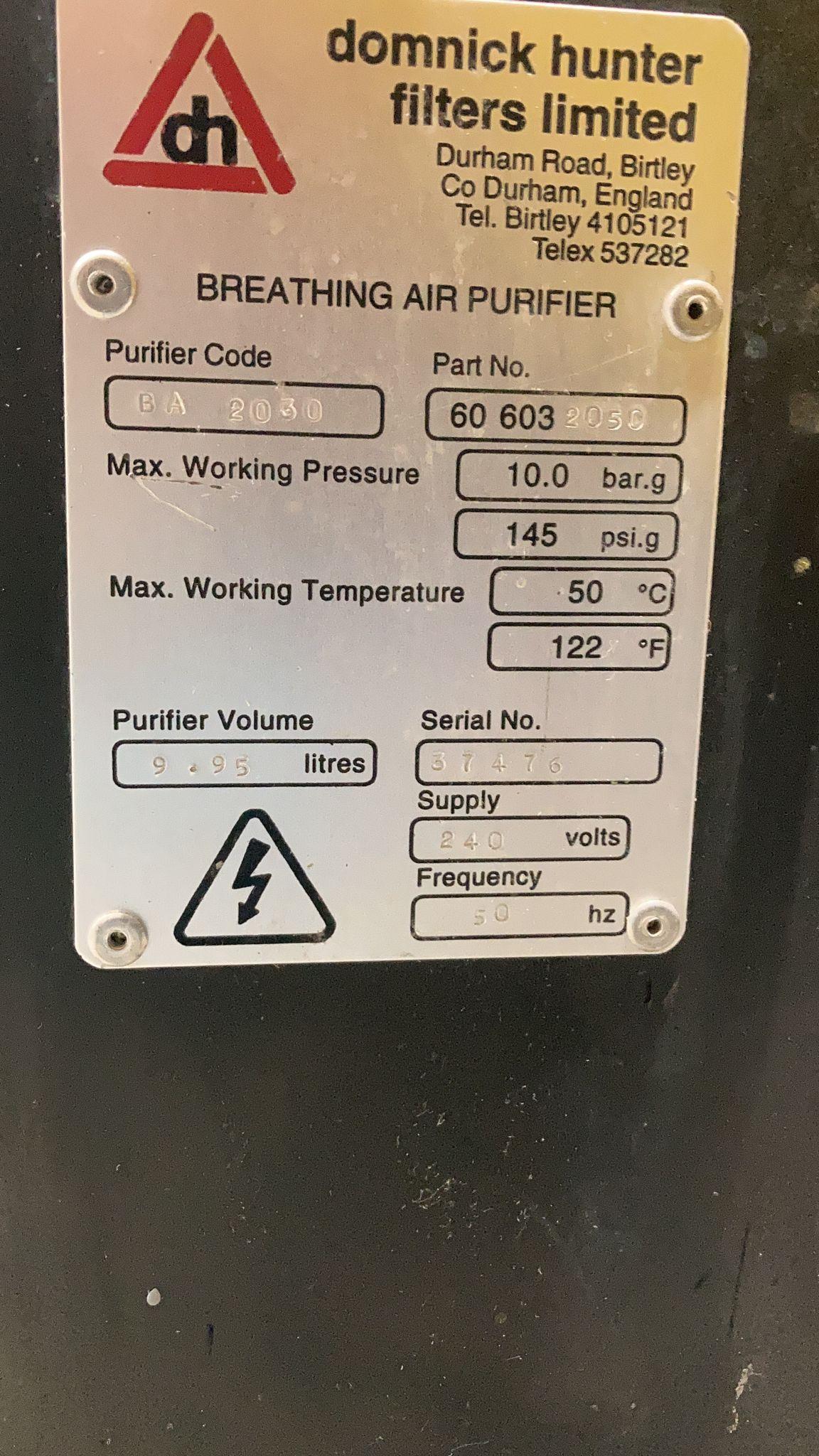 Domnick Hunter BA2030 Breathing Air Purifier