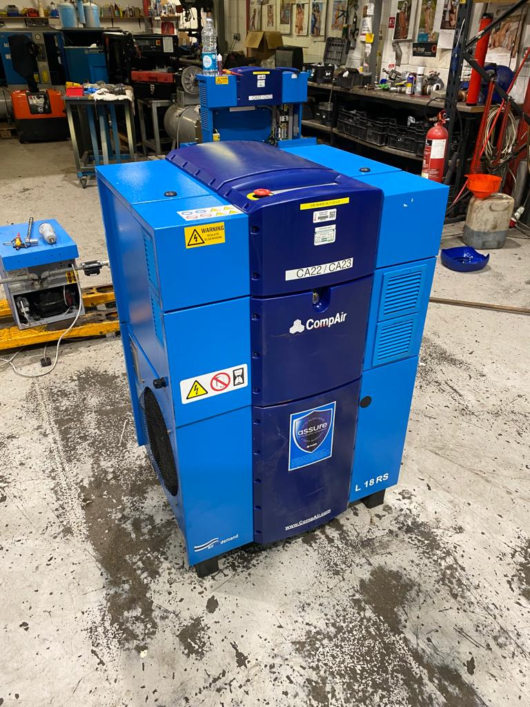 Compair L18RS 18.5kW variable speed drive compressor